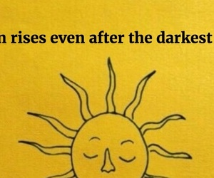 sun, quotes, and yellow image