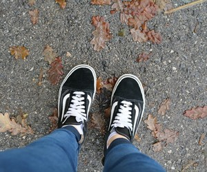 autumn, girl, and vans image