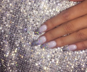 beauty, nails, and sparkles image