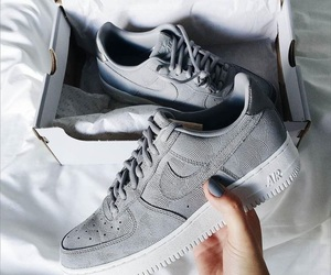 airforce, grey, and nikeshoes image