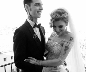 wedding, bvb, and andy biersack image