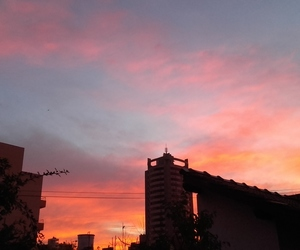 atardecer, cielo, and clouds image
