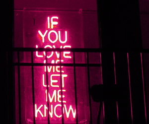 neon, neon sign, and red neon image