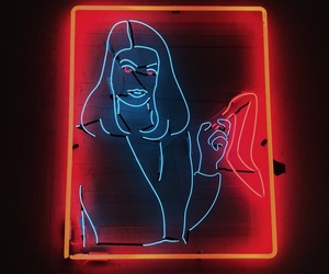 neon, neon colors, and neon sign image