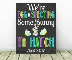 announcement, baby, and bunny image