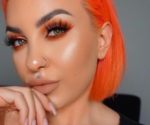color hair, orange, and gorgeous image