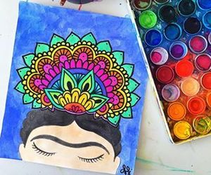 colors and Frida Khalo image
