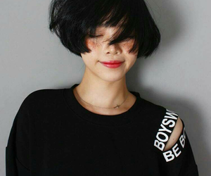 asian, girl, and short hair image