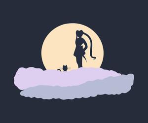 minimalistic and sailor moon image