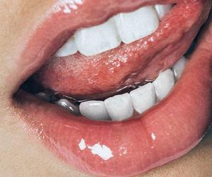 lips, tumblr, and teeth image