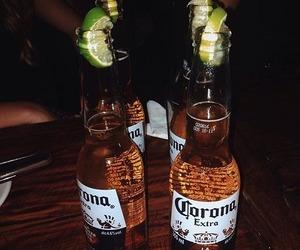 beer, corona, and food image