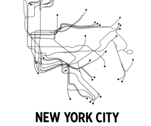 new york, city, and map image