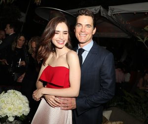 beauty, lily collins, and matt bomer image