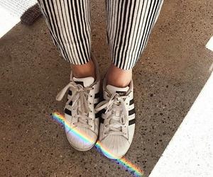 adidas, fashion, and rainbow image