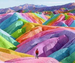 rainbow and landscape image