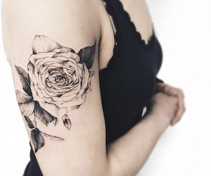 body art, floral, and ink image