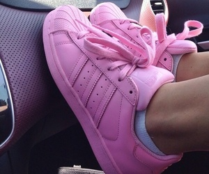 adidas, pink, and beauty image