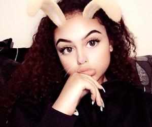 cute rabbit and african latina image