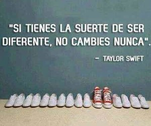 diferente, Taylor Swift, and frases image