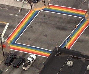 gay, rainbow, and street image