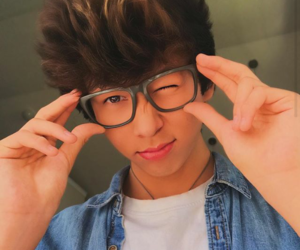glasses, oliver moy, and cute boys image