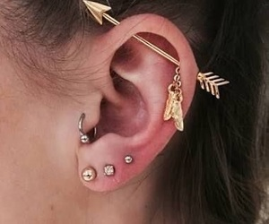 moda, piercing, and Piercings image