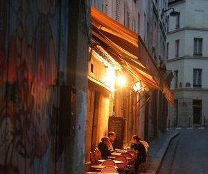 night, restaurant, and light image