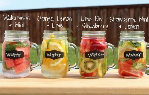 healthy, water, and fruit image