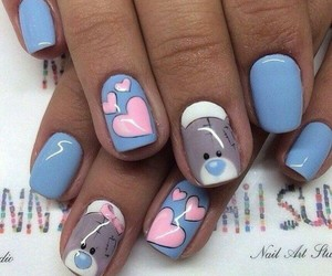 nails, bear, and heart image