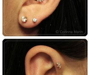 ear, piercing, and ear piercings image