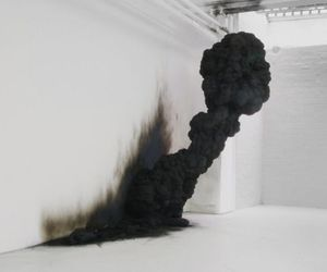black, smoke, and art image
