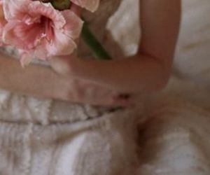bouquet, roses, and dress image