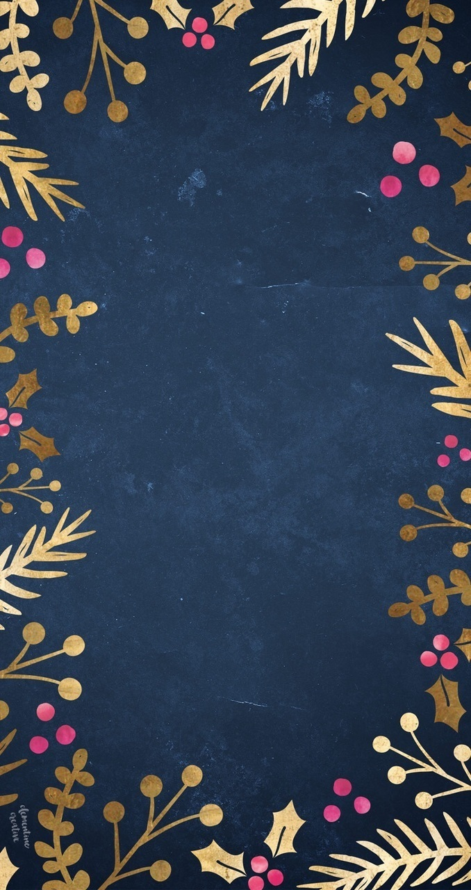 Dark Blue Floral Background For Iphone On We Heart It