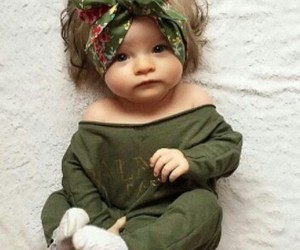 adorable, baby, and green image