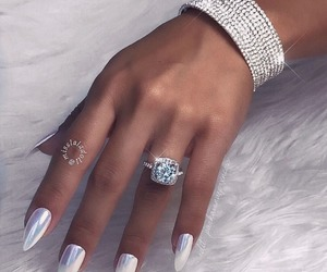 nails, bracelet, and diamond image