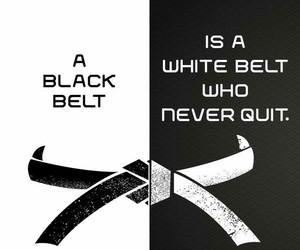 b&w, faith, and martial arts image