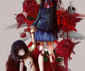 another, anime, and blood image