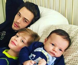 family, baby, and Francisco Lachowski image