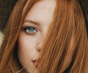 ginger, eyes, and freckles image