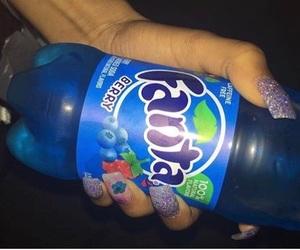 blueberry, nails, and fanta image