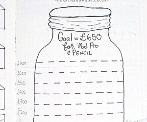 bullet journal and goals image