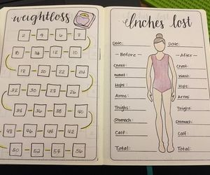 weight and bullet journal image