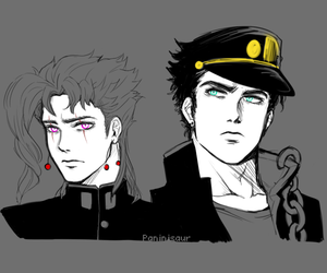jojo's bizarre adventure, stardust crusaders, and noriaki kakyoin image