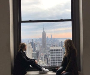 city, empire state, and view image