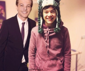larry, Harry Styles, and 1d image