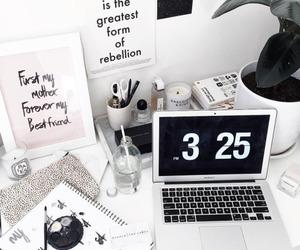 desk, home, and study image
