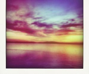 polaroid and scenery image