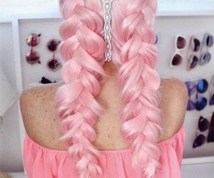 aesthetic, braids, and pastel image