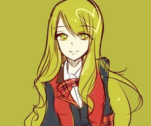 anime girl, beautiful, and green image
