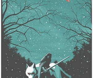 wolf, game of thrones, and jon snow image
